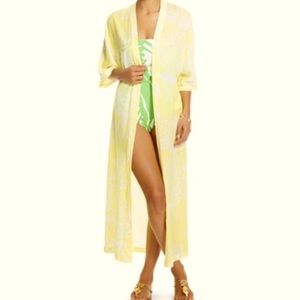 NWT Lilly Pulitzer xTarget yellow pineapple kimono